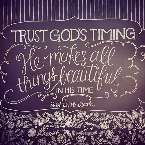 Trust in God's timing quotes beautiful God trust