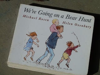 WE'RE GOING ON A BEAR HUNT! obstacle course, really cute. sensory, auditory, gross motor