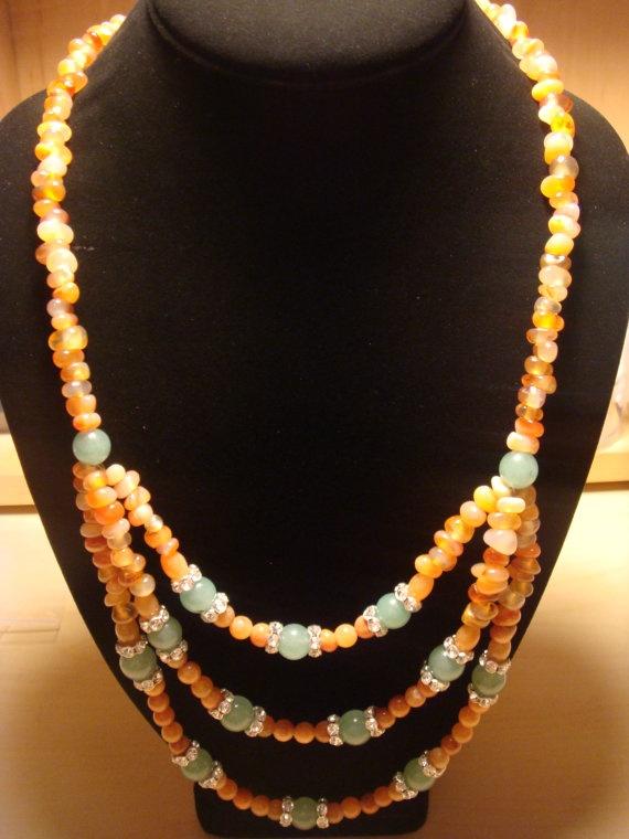 Aventurine / Carnelian Necklace by laiziboicollection on Etsy, $18.00: Laiziboicollection Shop, Aventurine 4Mm, Mum S Crafting