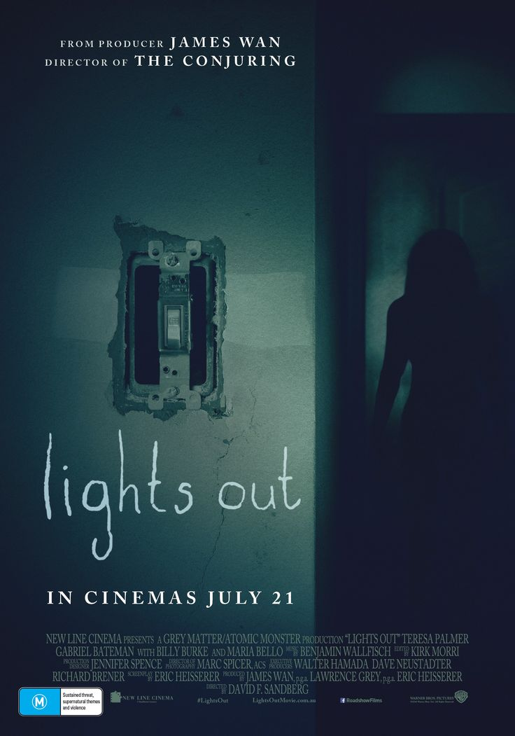 Lights Out (2016) USA Warner / Dune Horror Teresa Palmer, Maria Bello. 24/06/17