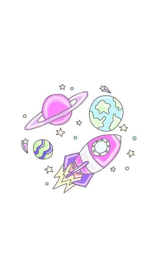 Outer space girly Cute wallpapers, Kawaii