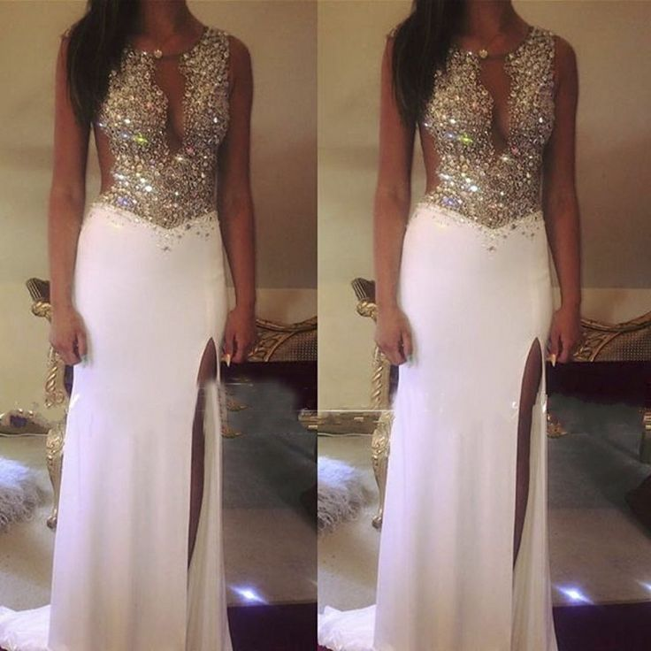 Cheap gowns mother of the groom, Buy Quality dresse directly from China dress butterflies Suppliers: fashion luxury long evening dress 2016 backless crystal beaded chiffon women pageant gown formal party dress robes de s