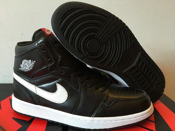 Authentic Cheap Air Jordan 1 Cheap Authentic Cheap Air Jordan Retro 1 Black White Nike Zoom Shoe for Men