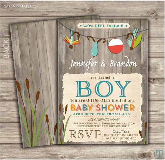 Fishing Baby Shower Invitations We're Reel Excited