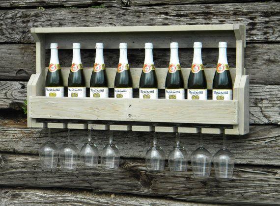 Shabby Chic Wine Rack Pallet Wine Rack by JNMRusticDesigns on Etsy, $105.00