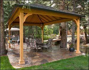 60 best outdoor pavilion ideas images on pinterest   backyard ... - Patio Pavilion Ideas