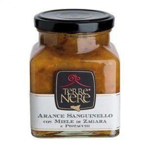 Arance Sanguinello con miele di zagara e pistacchi   http://www.siciliainweek.it/it/marmellata-siciliana-prodotti-tipici-siciliani-/537-arance-sanguinello-con-miele-di-zagara-e-pistacchi.html