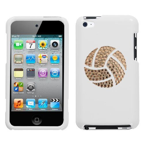 White and White Crystal Rhinestone Bling Bling Volleyball Logo for Ipod Touch 4th Generation Ipod Touch 4 8gb 32gb 64gb by Dazzle, http://www.amazon.com/dp/B0086P5Y8O/ref=cm_sw_r_pi_dp_Z0.Prb0MSJ22W