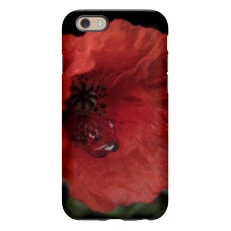Poppy in the rain, macro photo iPhone 6 Tough Case #iphone6 #iphonecases #flower