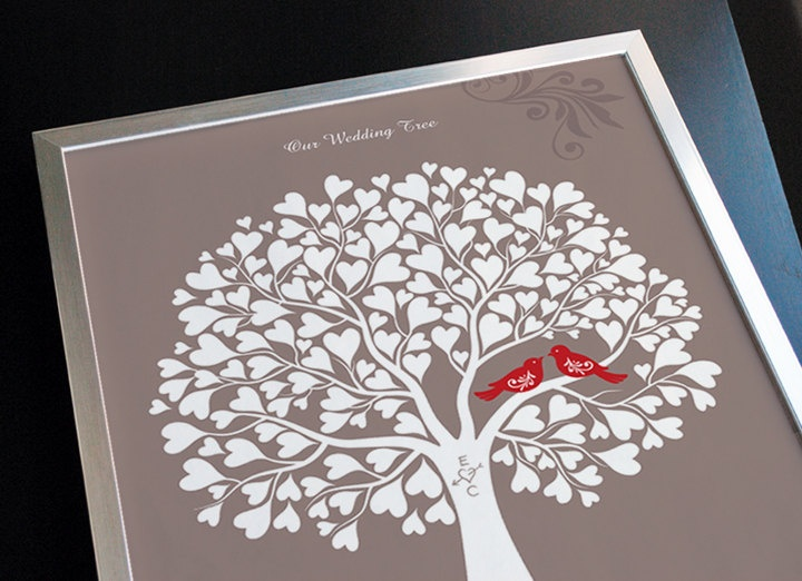 Guest Book Alternative, Wedding Gift, Anniversary or Engagement Gift ...