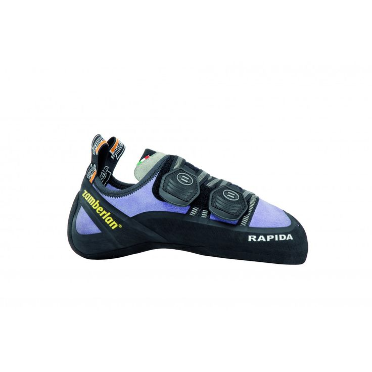 A80 RAPIDA II WNS - The perfect combination between fit and performance. Multi-directional Velcro closure for maximum fit customization. Enlarged tape closure to enhance fit. Wide rubber toe to increase grip in extreme situations. Vibram® branded outsole. #zamberlan #climbing #rapida #discoverthedifference