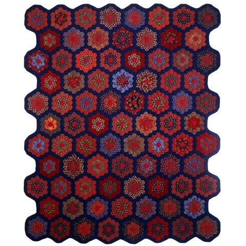 17 best images about jinny beyer quilts blocks on pinterest quilt designs patterns and fabrics for Grandmother flower garden quilt pattern variations