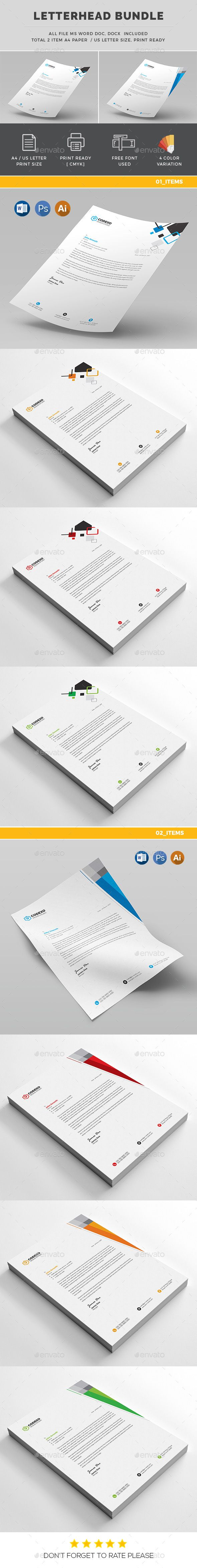 25 best ideas about Letterhead Template Word – Free Business Stationery Templates for Word