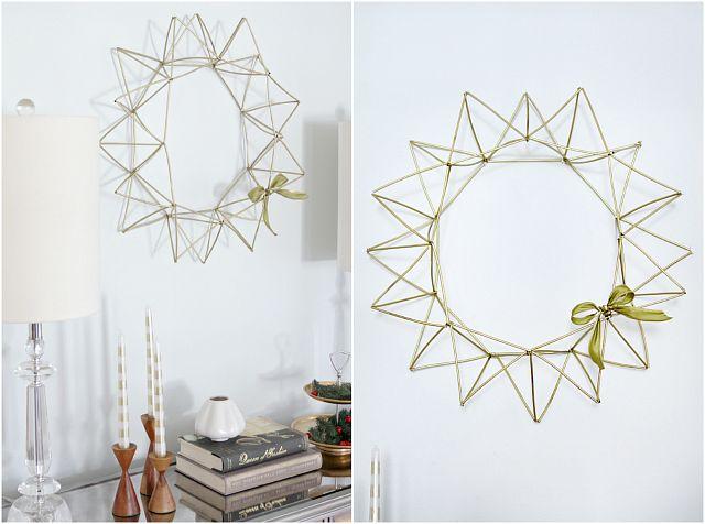 DIY Himmeli Wreath - Decor Fix