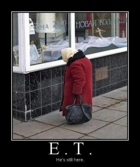 E.T. is still here.