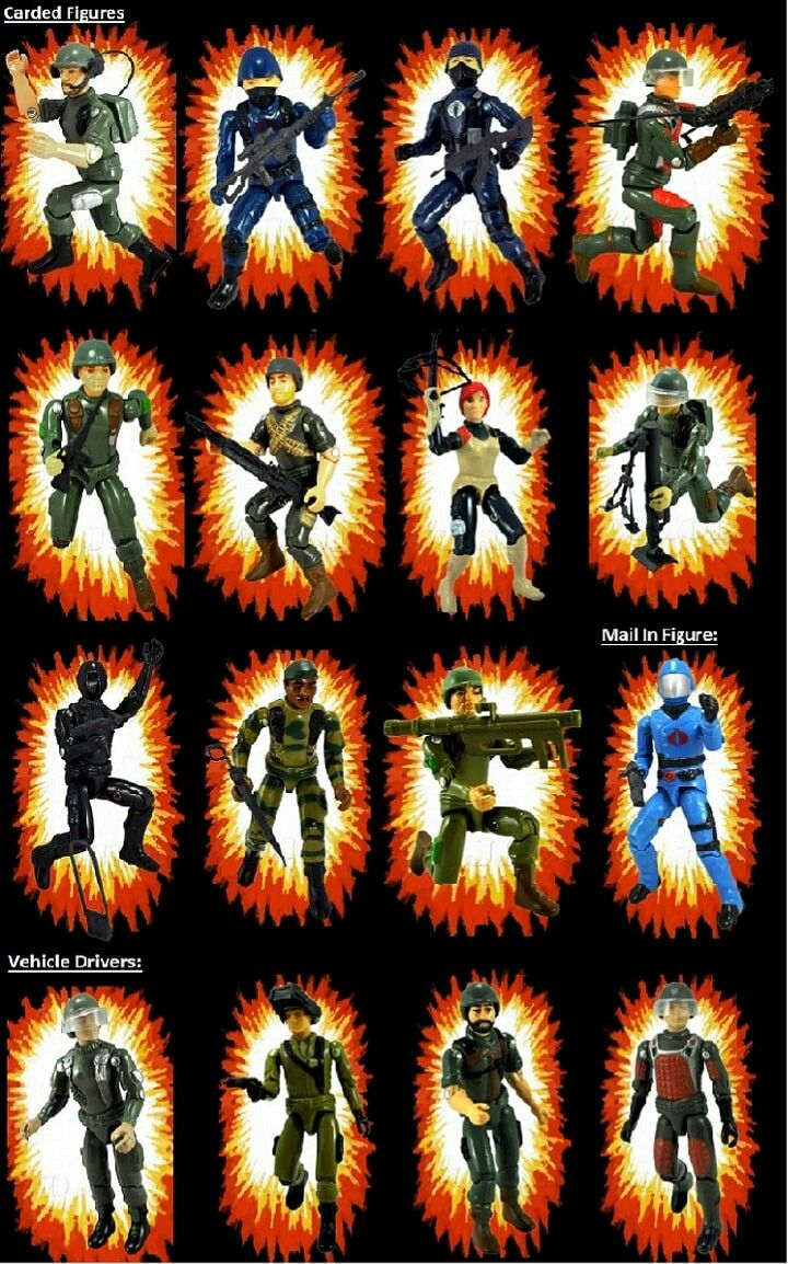 GI JOE 24x36 COLLAGE CAST 241268 CHARACTERS POSTER