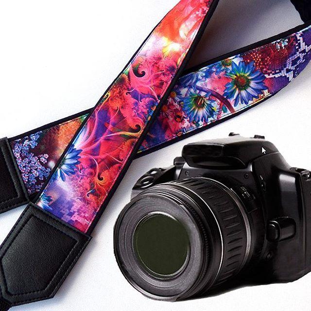 Floral camera strap. DSLR Camera Strap. Camera accessories.Photo accessories. Colorful camera strap for Canon, Nikon, Fuji & other cameras. $33