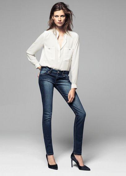 Super slim-fit dark Olivia jeans #FW13 #Mango #NewCollection