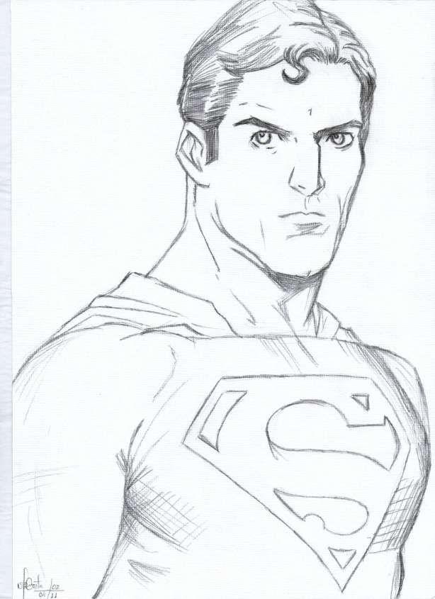 18 Drawings Of Superman Superman Drawing Pencil Drawings Cartoon Drawings