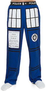 Doctor Who The Tardis Pajama Pants.