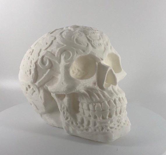 Celtic Skull 3d Printed Etsy Skull Prints Celtic