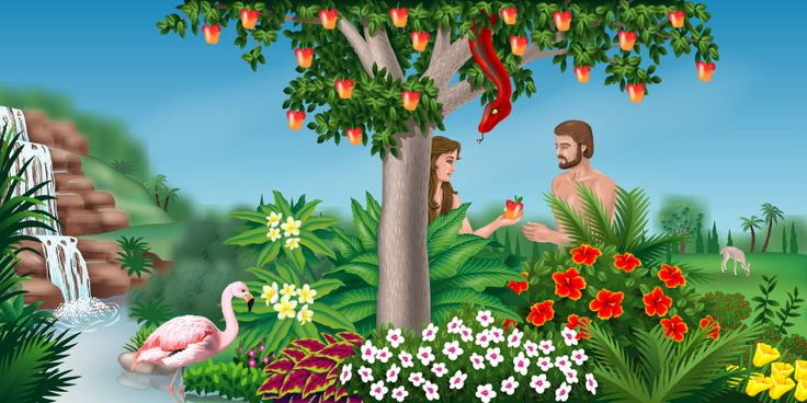The Garden Of Eden A Bible Story Mural Adam Eve Eden Lessons Pinterest Murals Sweet