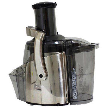 Juiceman 2-Speed Electric Juicer, Stainless Steel, Refurbished, Gray