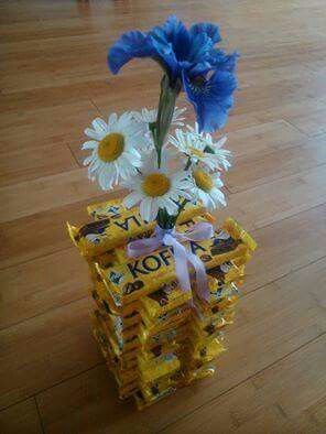 Kytička s vázou