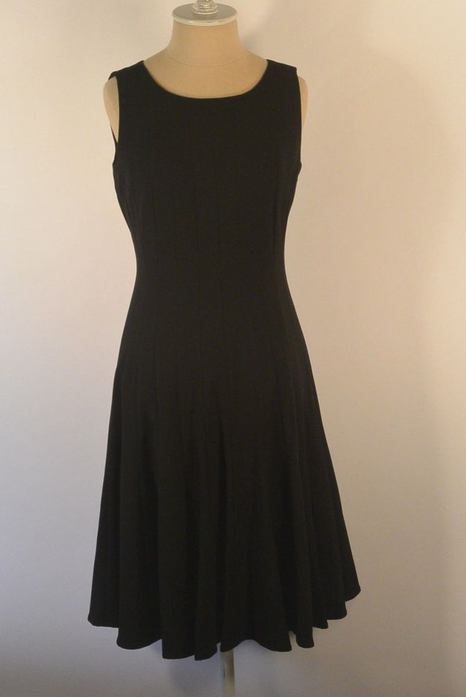 f5d228fe72 CALVIN KLEIN size 2 NWT solid BLACK Sleeveless Lined Pleated Flare Midi  Dress XS  CalvinKlein  FitFlareDress  WorkPartyCocktail