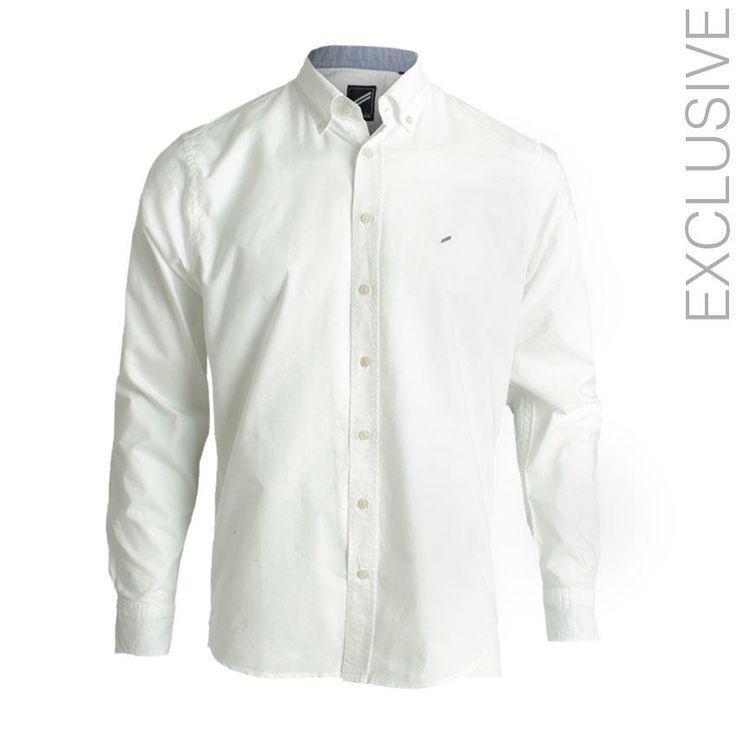 Daniel Hechter White Cotton Plain Shirt | اشتري على النت Jumia Egypt