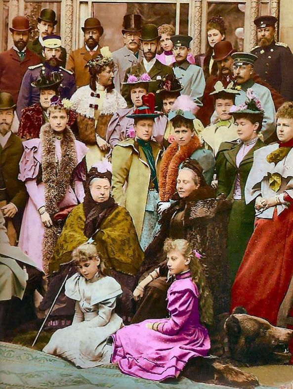"""The Royal Mob"" - Queen Victoria with all of her children and grandchildren from the various royal houses of Europe"