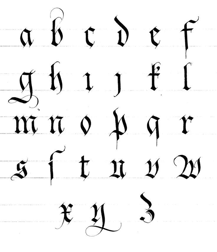 Les écritures gothiques | Instant de Calligraphie