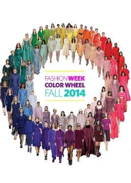 Fashion Week Fall 2014 Color Wheel