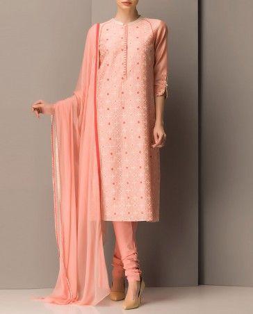 Light Pink Printed Kurta Set