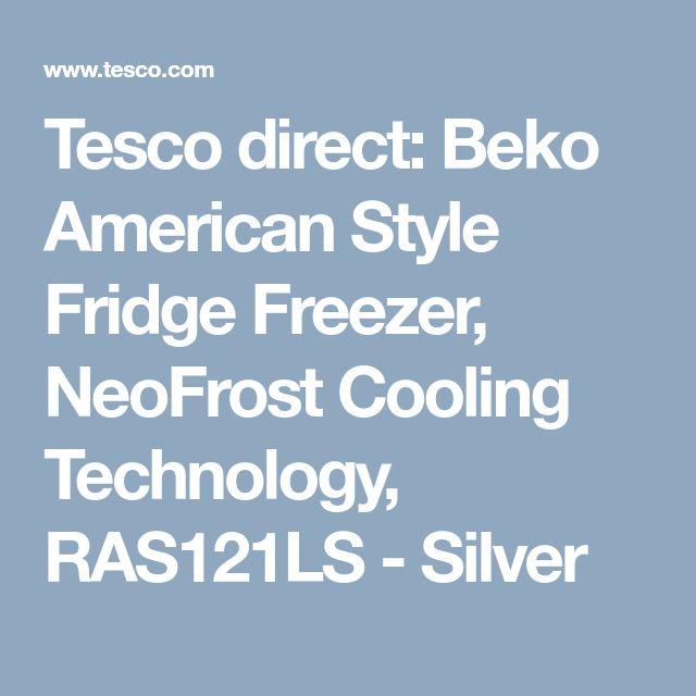 Tesco direct: Beko American Style Fridge Freezer, NeoFrost Cooling Technology, RAS121LS - Silver