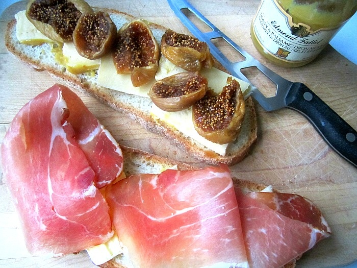 Stacey Snacks Grilled Cheese with Fig and Prosciutto