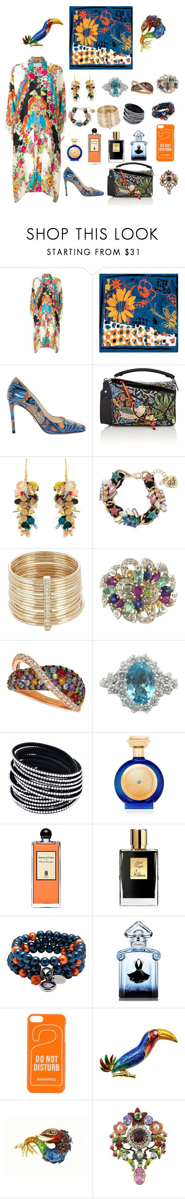 """""""Untitled #2177"""" by dkerbyg ❤ liked on Polyvore featuring Gucci, Bianca Elgar, Prada, Loewe, Megan Park, Betsey Johnson, Feathered Soul, LE VIAN, Boadicea the Victorious and Serge Lutens"""