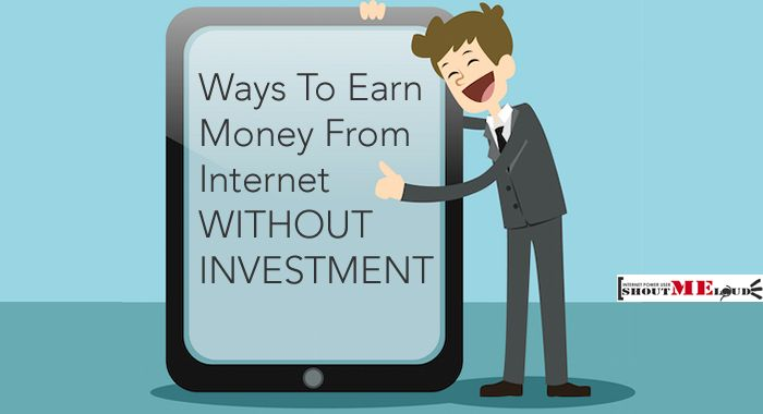 Six ways to earn money online from Internet without paying while you struggle to create a side income for running your life.