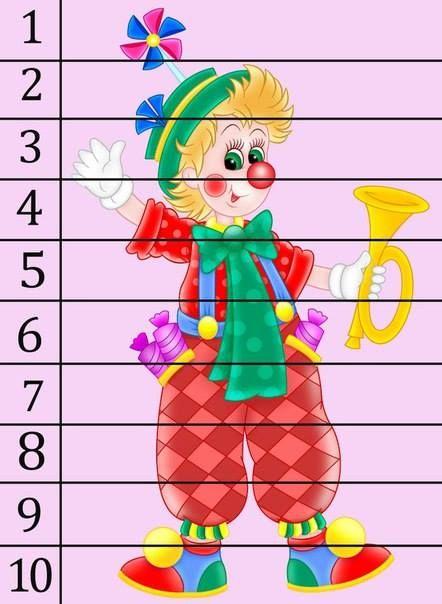 Изучаем цифры - арифметика в пазлах 8
