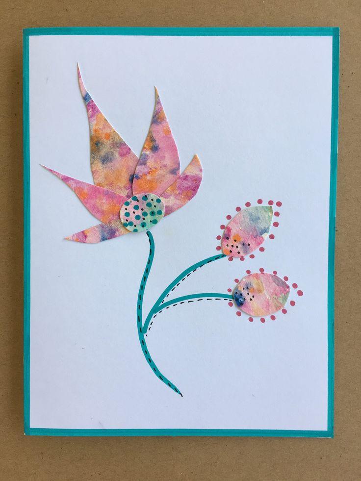 Handmade hand painted original greeting card etsy