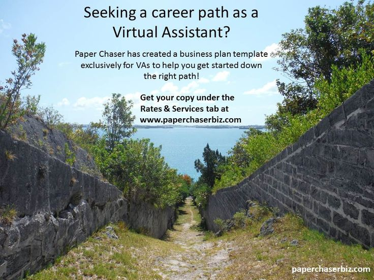 Seeking A Career Path As A Virtual Assistant VA Business Plan - Virtual assistant business plan template