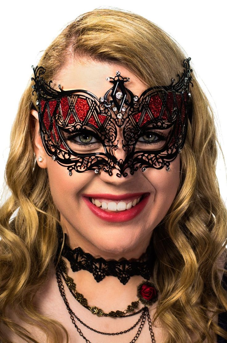 Red Masquerade Masks | Women's and Men's Red Party Masks
