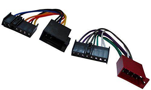 AERZETIX: Adaptateur faisceau câble fiche ISO pour autoradio d'origine pour auto voiture: Faisceau adaptateur d'autoradio. Extrêmité A:…