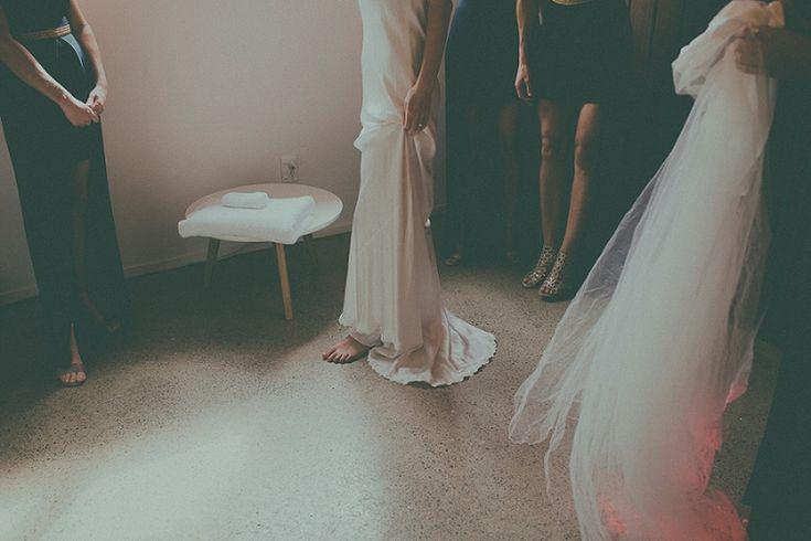 Slip into the A LA Robe silk gown for your laidback relaxed wedding <3 #loversland #alarobe #wedding #silkweddingdress #simpleweddingdress