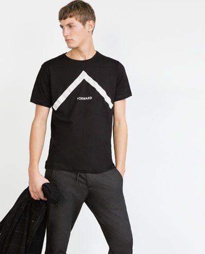 TEXT T-SHIRT-Printed-T-shirts-MAN   ZARA Hungary