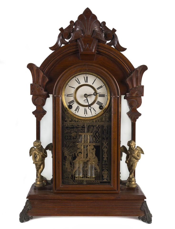 Ansonia Windsor 8 Day Time And Strike Shelf Clock With Original Glass And Walnut Case Circa 1880 54 5cm High Mad On Clock Time Piece Antique Wall Clock