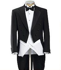 Black Tails Coat Tuxedo Jacket