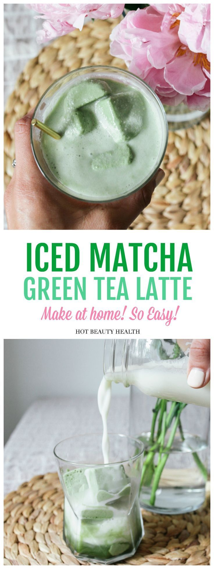 Iced Matcha Green Tea Latte Recipe