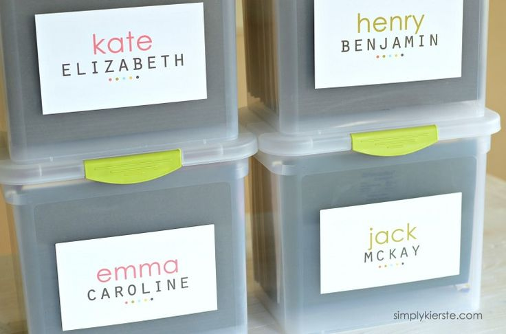 Keep your children's keepsake papers neat and tidy with this idea and free printables!