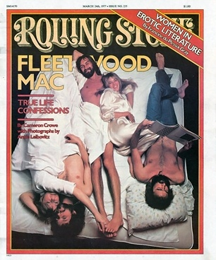 Fleetwood Mac on the March 24, 1977 cover.  Cover story written by Cameron Crowe after the release of 'Rumours.' #longreads